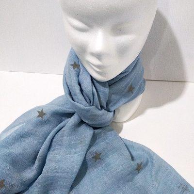Foulard azul estrellas