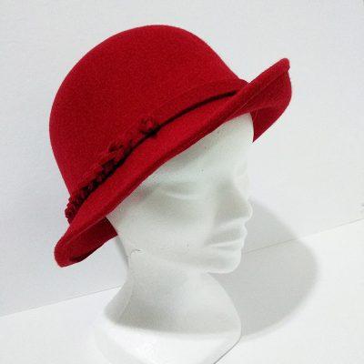 Sombrero mujer rojo