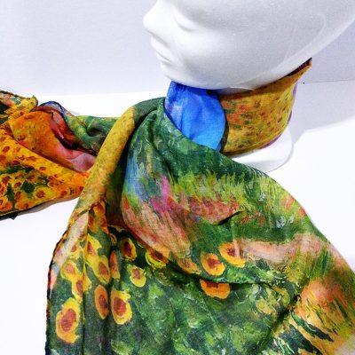 Foulard estampado floral