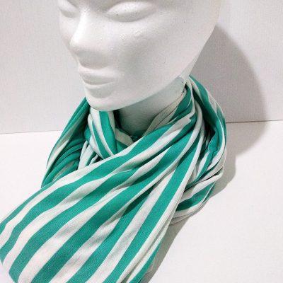 Cuello rayas verde agua