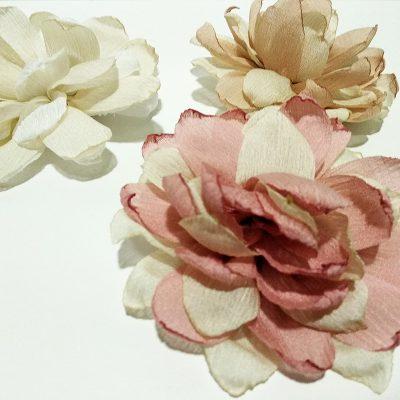 Clip flor bicolor