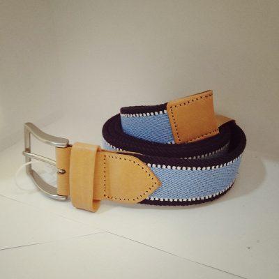 Cinturon elastico azul
