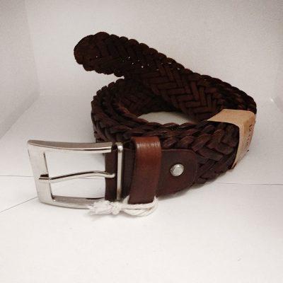 Cinturon piel trenzado
