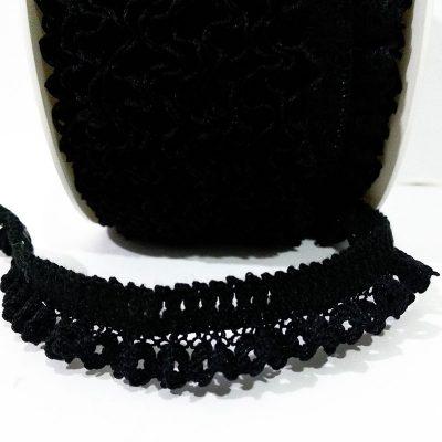Puntilla elastica negra
