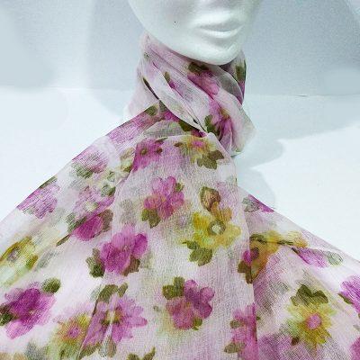Fular lila floral