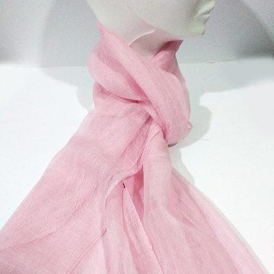 Fular lisa rosa
