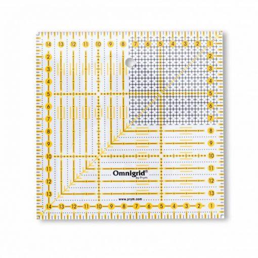 Regla quilting 15x15 cm