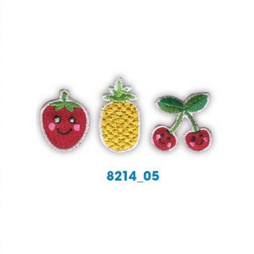 Mini bordados frutas