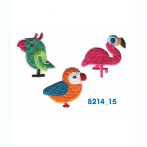 Mini bordados aves