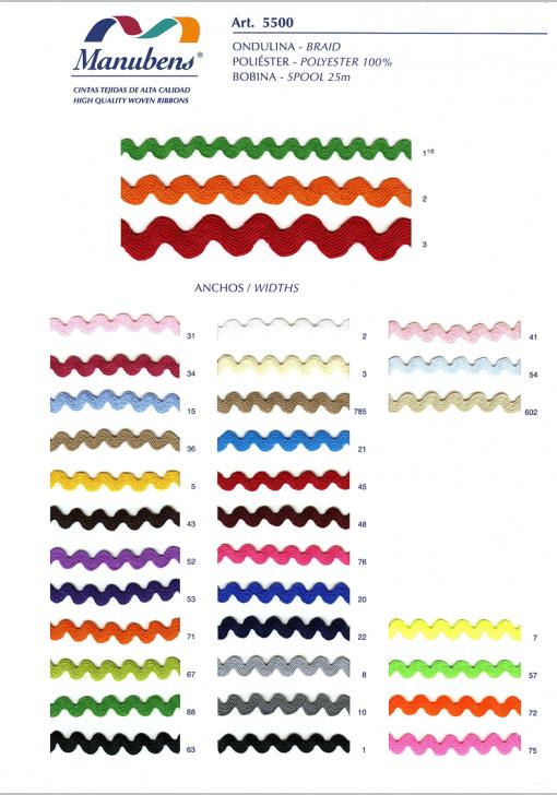 Colores cinta ondulina