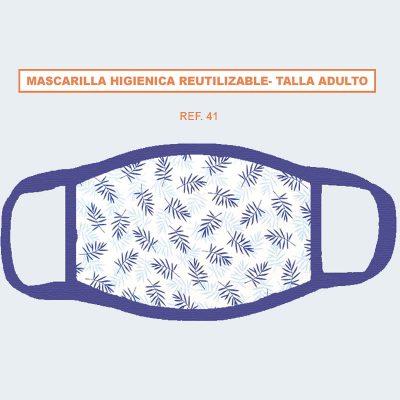 Mascarilla hidrofugo antibacteriana