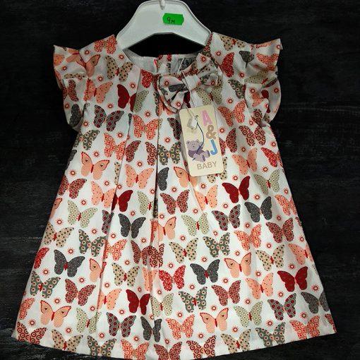 Vestido bebe mariposas